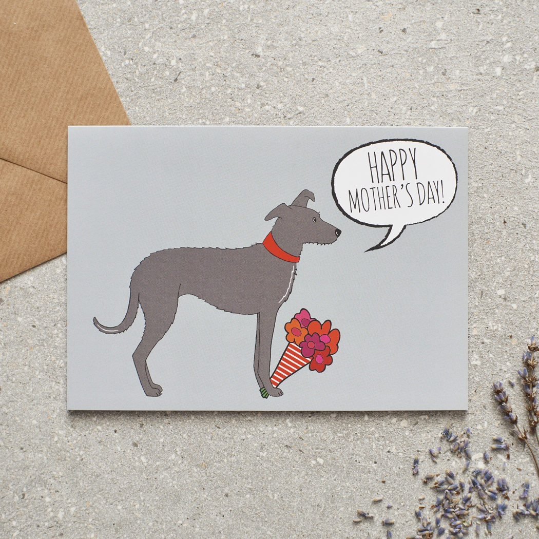 Lurcher Mother's Day Card , Mischievous Mutts > Greeting Cards , Lurcher