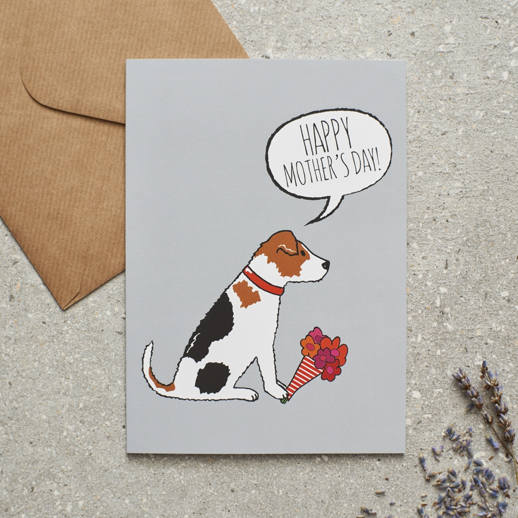 Jack Russell Mother's Day Card , Mischievous Mutts > Greeting Cards , Jack Russell