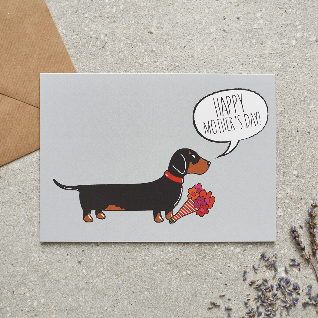 Dachshund Mother's Day Card , Mischievous Mutts > Greeting Cards , Dachshund