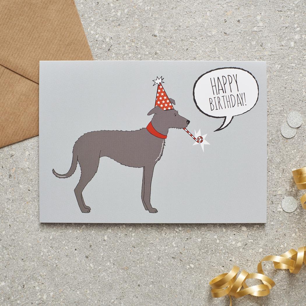 Lurcher Birthday Card , Mischievous Mutts > Greeting Cards , Lurcher