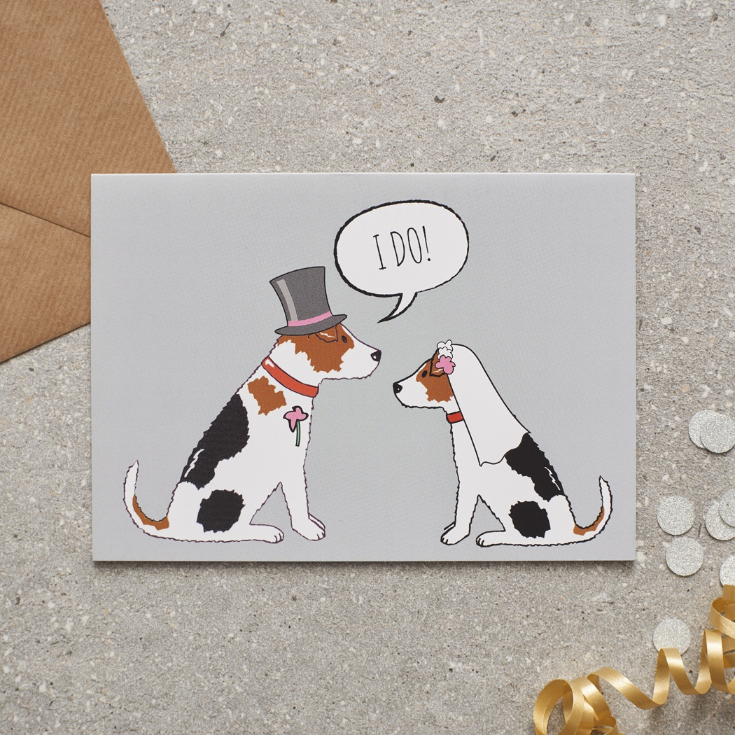 Jack Russell Wedding Card