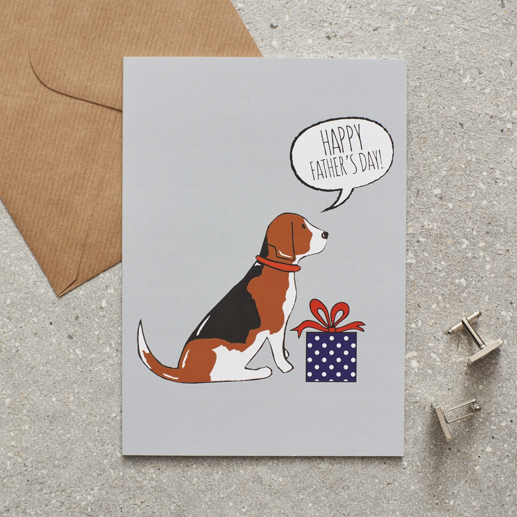 Beagle Father's Day Card , Mischievous Mutts > Greeting Cards , Beagle