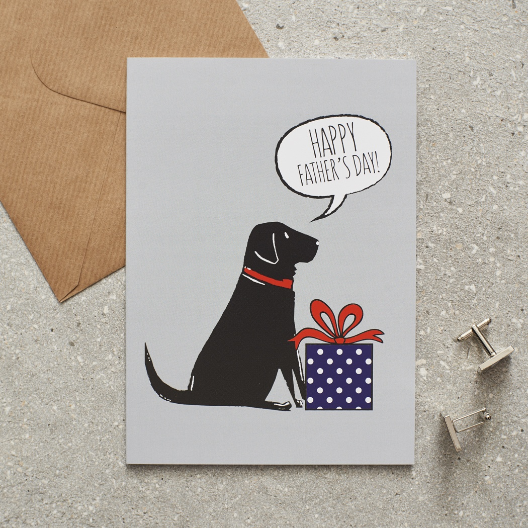 Black Labrador Father's Day Card , Mischievous Mutts > Greeting Cards , Black Labrador