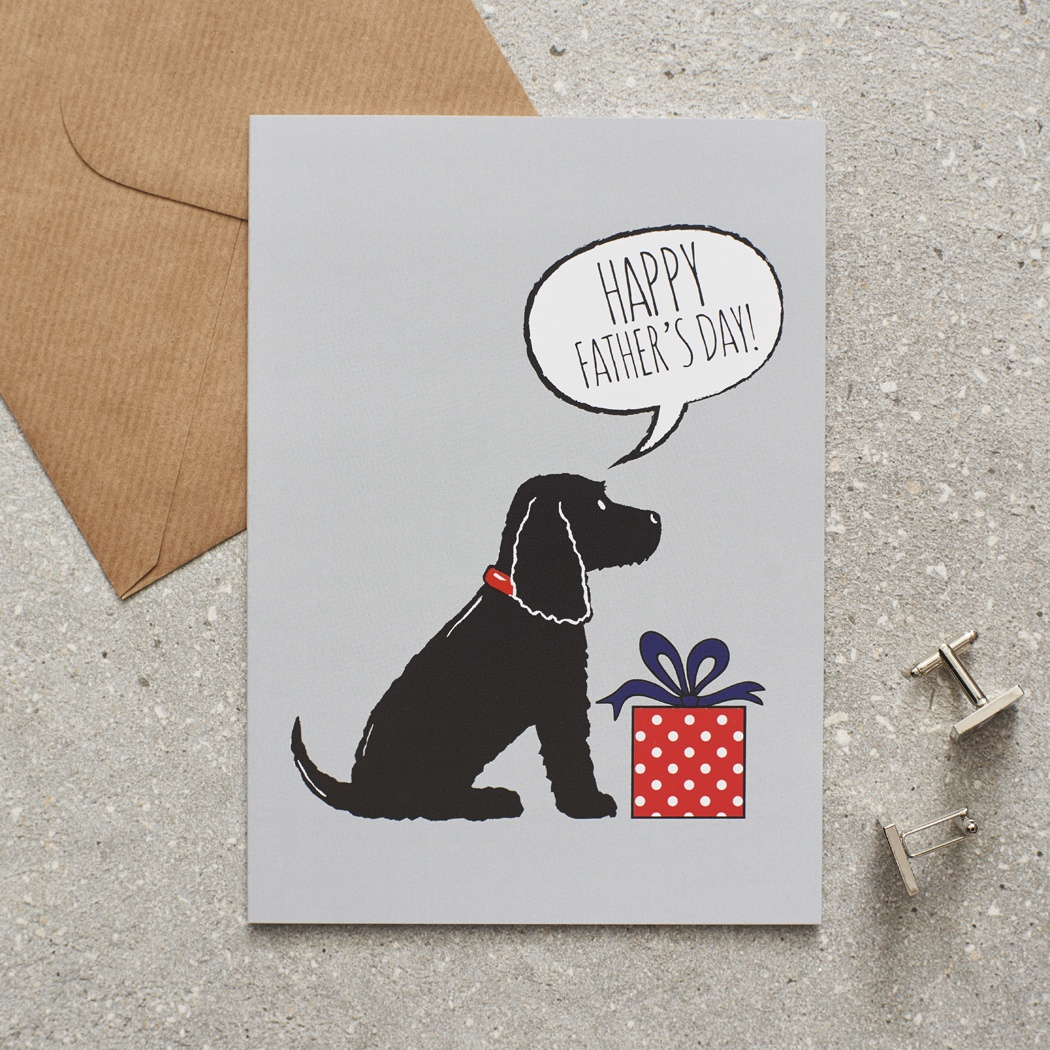 Black Cocker Spaniel Father's Day Card , Mischievous Mutts > Greeting Cards , Cocker Spaniel