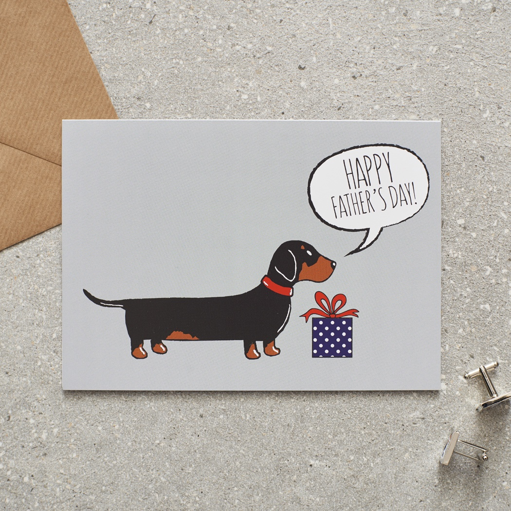 Dachshund Father's Day Card , Mischievous Mutts > Greeting Cards , Dachshund