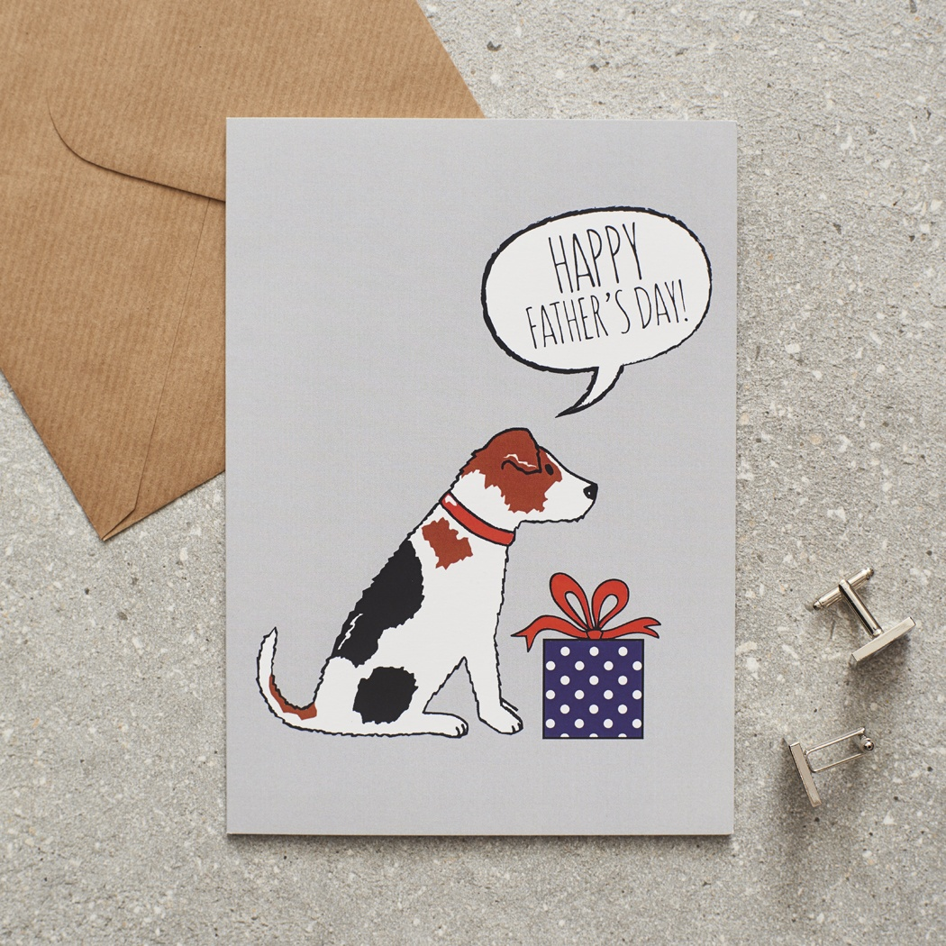 Jack Russell Father's Day Card , Mischievous Mutts > Greeting Cards , Jack Russell