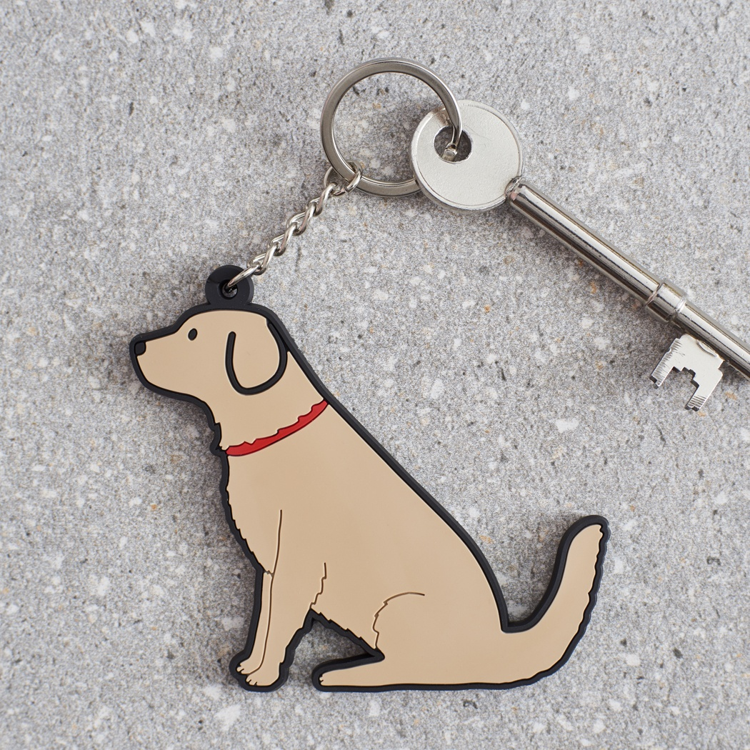 Golden Retriever Keyring , Mischievous Mutts > Keyrings , Golden Retriever