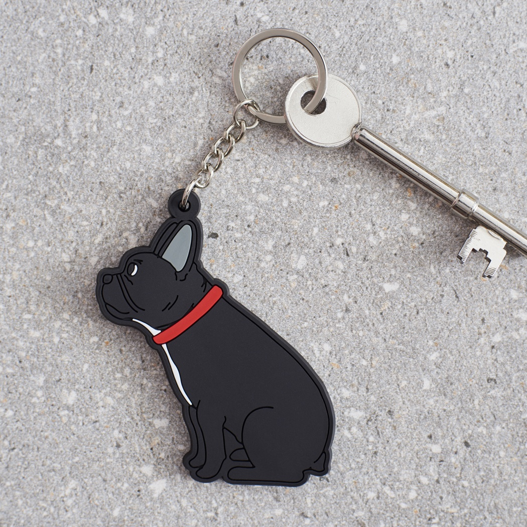 French Bulldog Keyring , Mischievous Mutts > Keyrings , French Bulldog