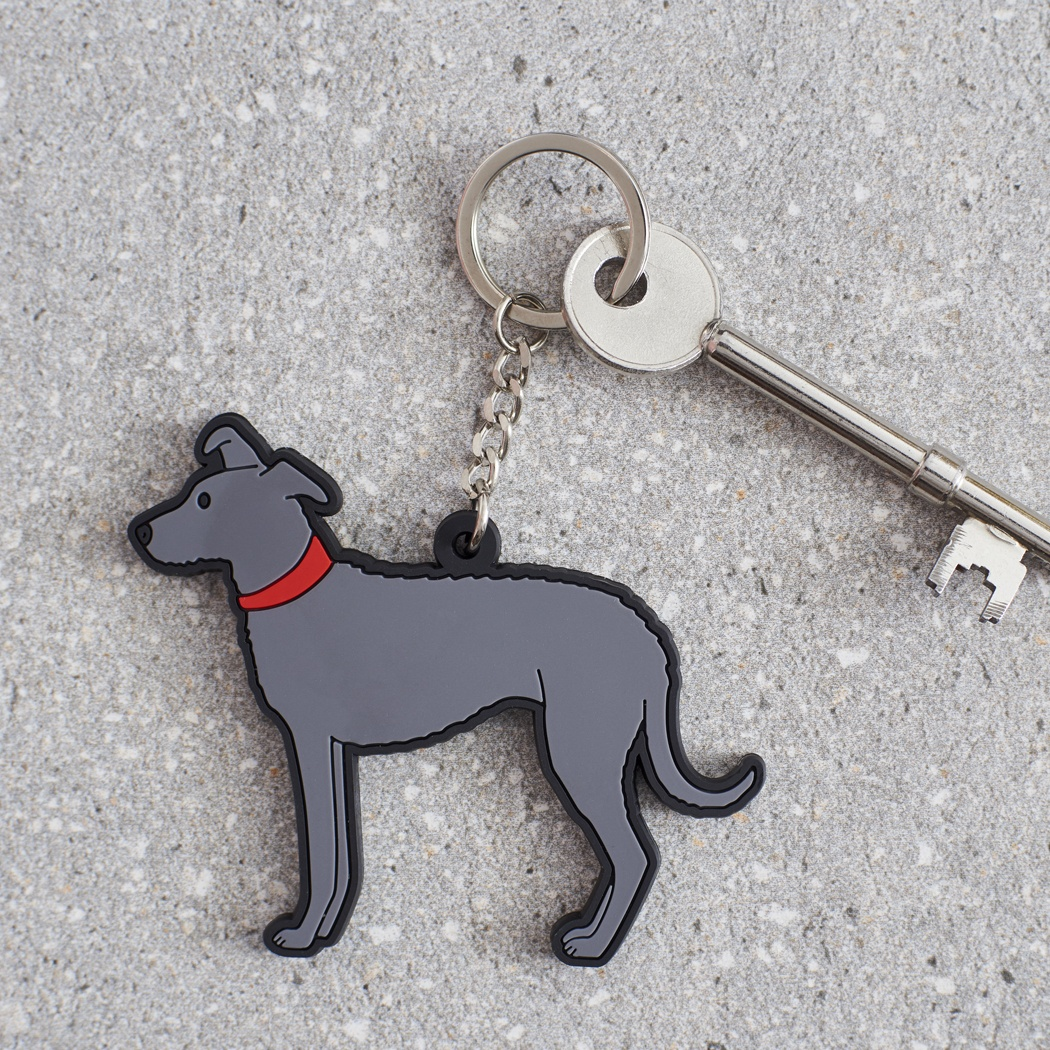 Lurcher Keyring , Mischievous Mutts > Keyrings , Lurcher