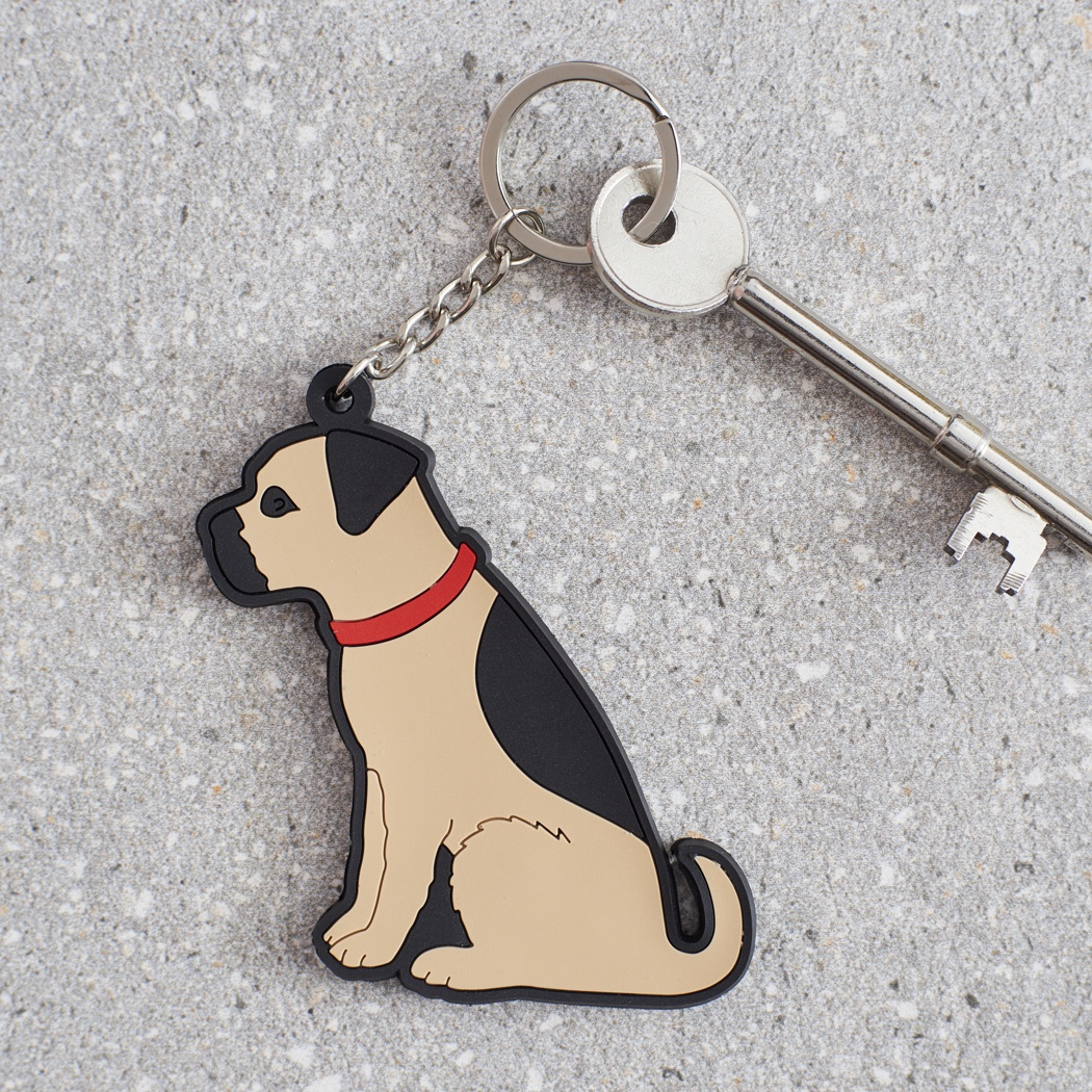 Border Terrier Keyring , Mischievous Mutts > Keyrings , Border Terrier