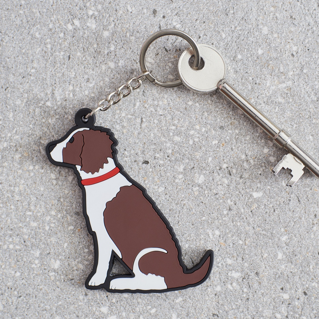 Springer Spaniel (Liver & White) Keyring , Mischievous Mutts > Keyrings , Springer Spaniel