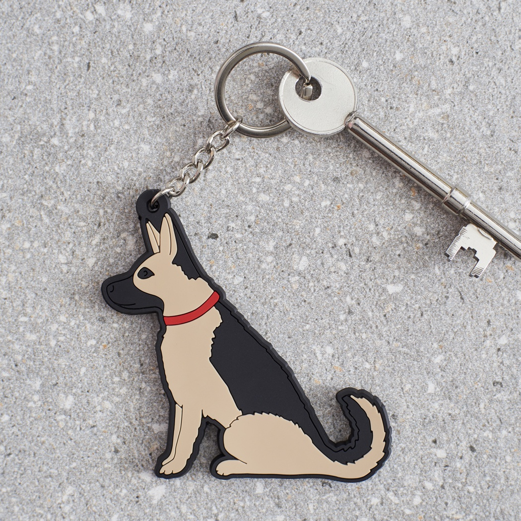 German Shepherd Keyring , Mischievous Mutts > Keyrings , German Shepherd
