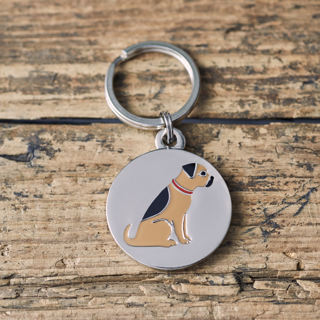 Border Terrier Dog ID Name Tag , Mischievous Mutts > Dog Tags , Border Terrier