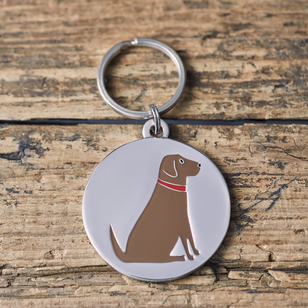 Chocolate Labrador Dog ID Name Tag , Mischievous Mutts > Dog Tags , Chocolate Labrador
