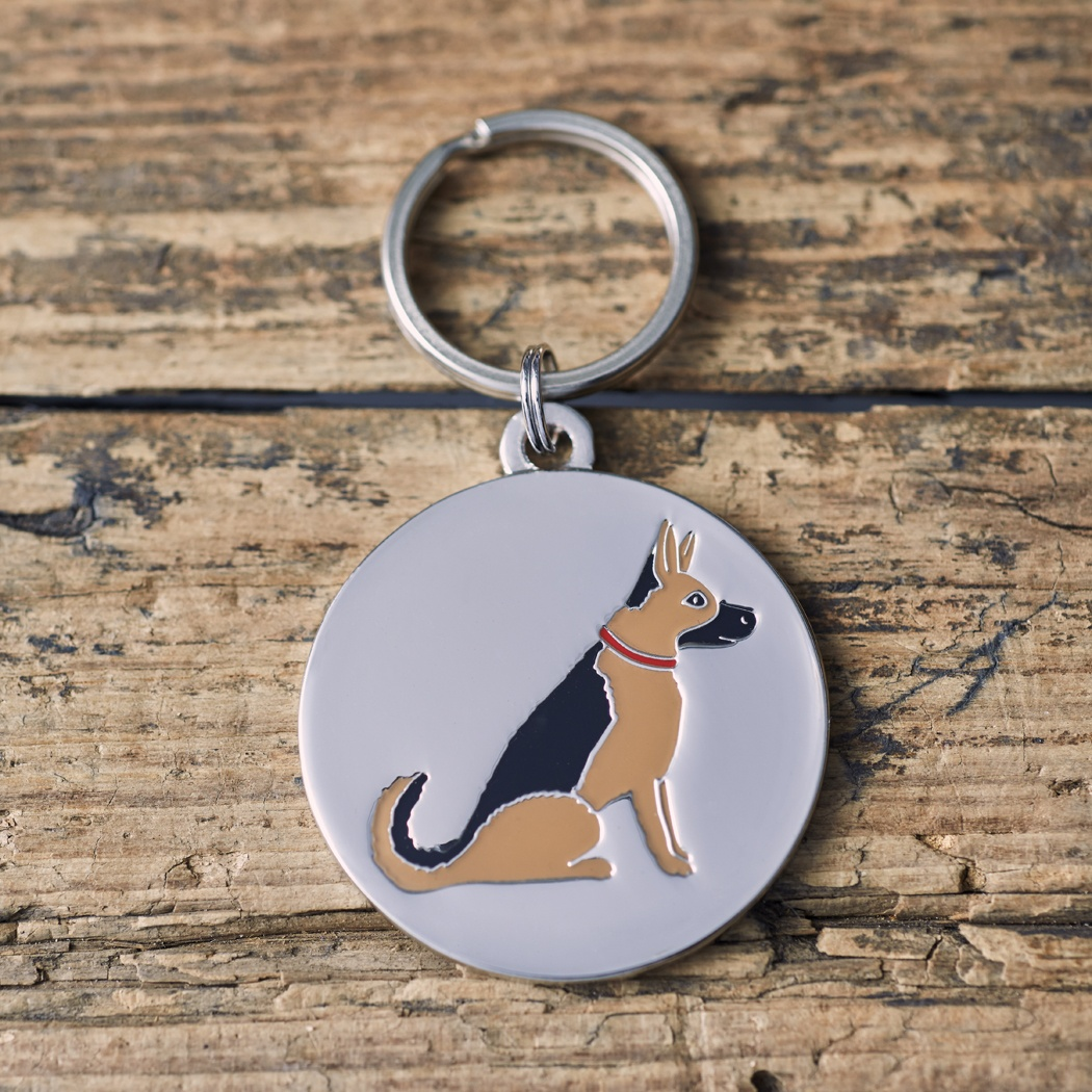 German Shepherd / Alsatian Dog ID Name Tag , Mischievous Mutts > Dog Tags , German Shepherd