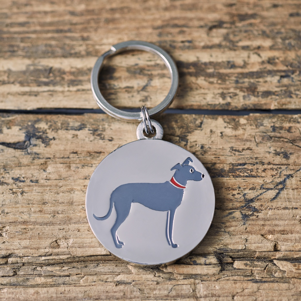 LURCHER DOG ID NAME TAG , Mischievous Mutts > Dog Tags , Lurcher