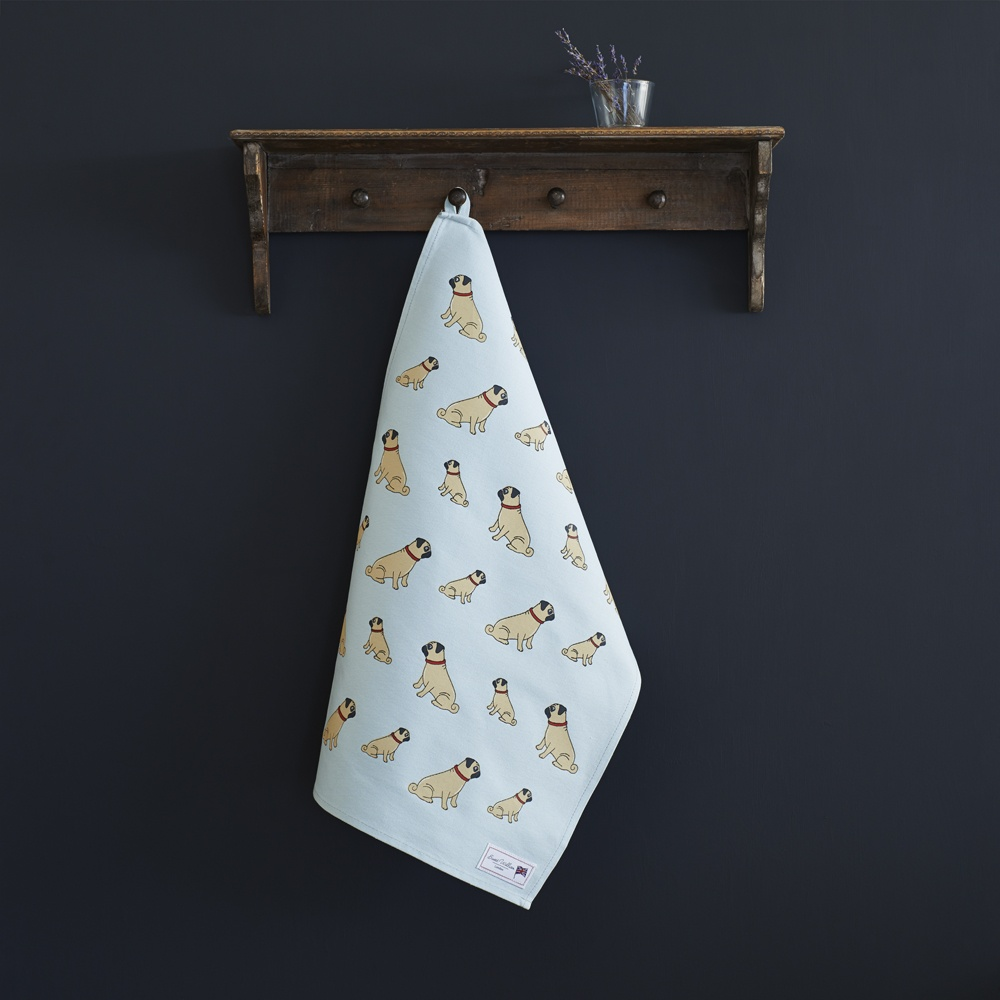Pug Tea Towel , Mischievous Mutts > Tea Towels , Pug