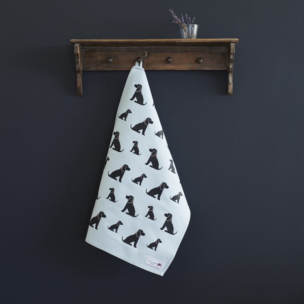 Cocker Spaniel (black) Tea Towel , Mischievous Mutts > Tea Towels , Cocker Spaniel
