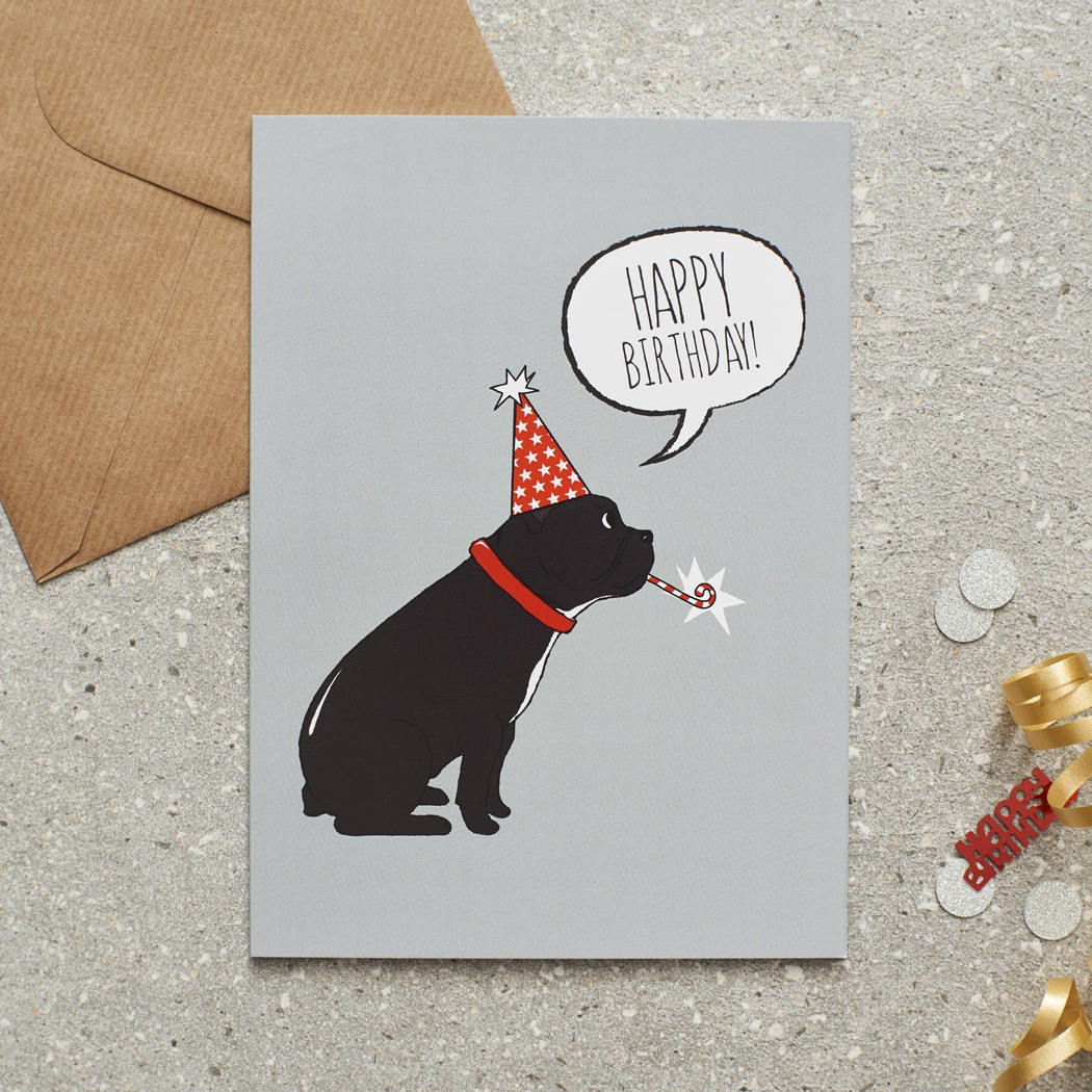 French Bulldog Birthday Card Mischievous Mutts Greeting Cards