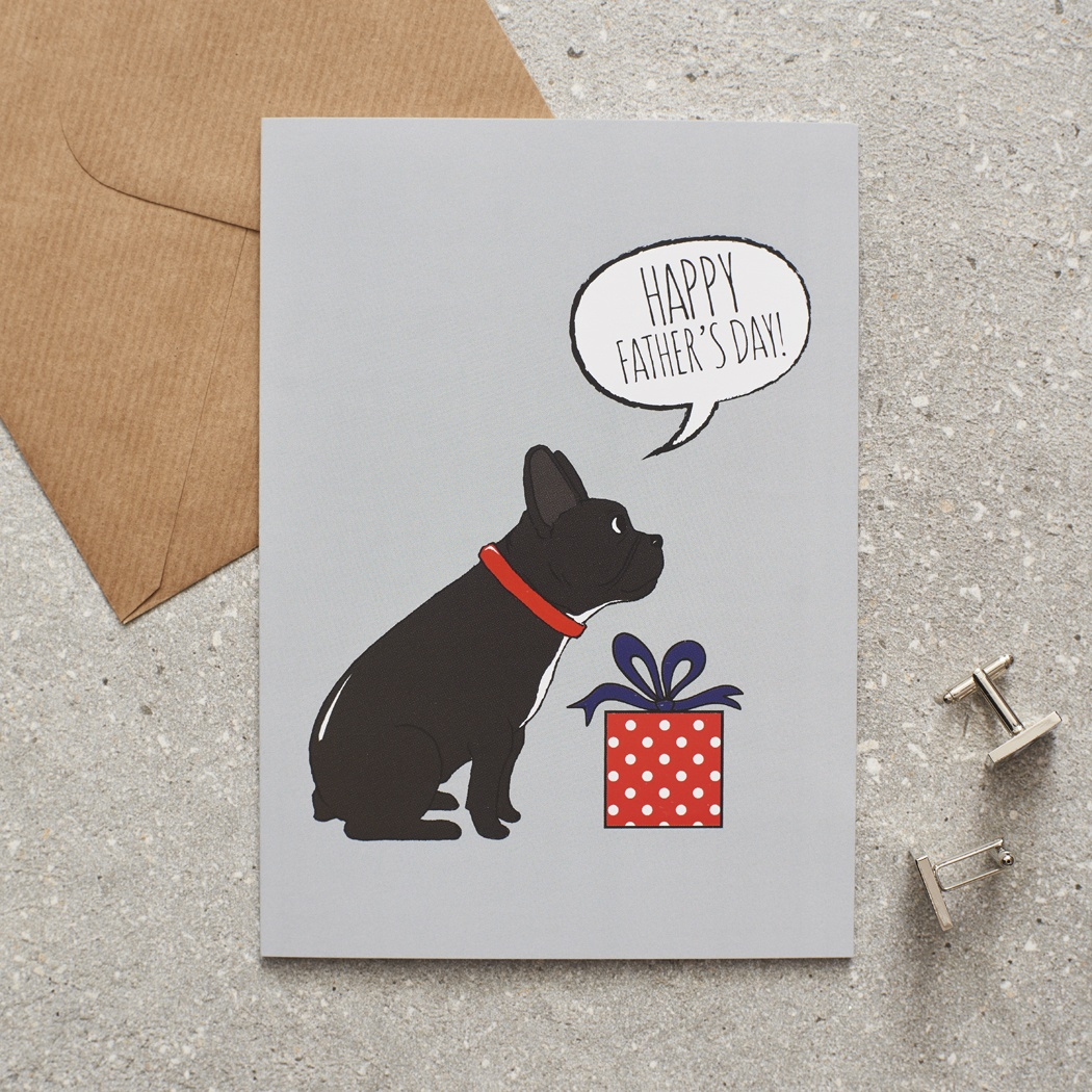 French Bulldog Father's Day Card , Mischievous Mutts > Greeting Cards , French Bulldog