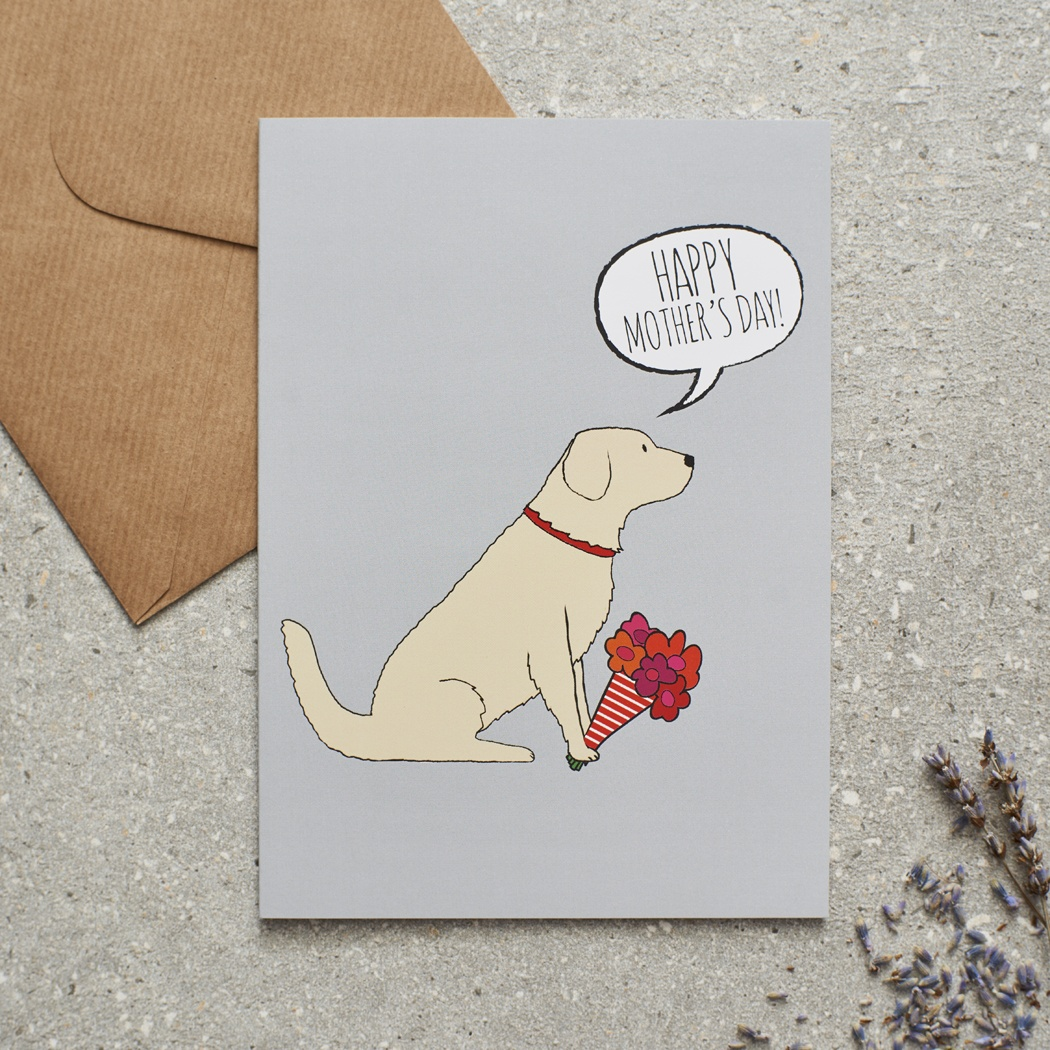 Golden Retriever Mother's Day Card , Mischievous Mutts > Greeting Cards , Golden Retriever