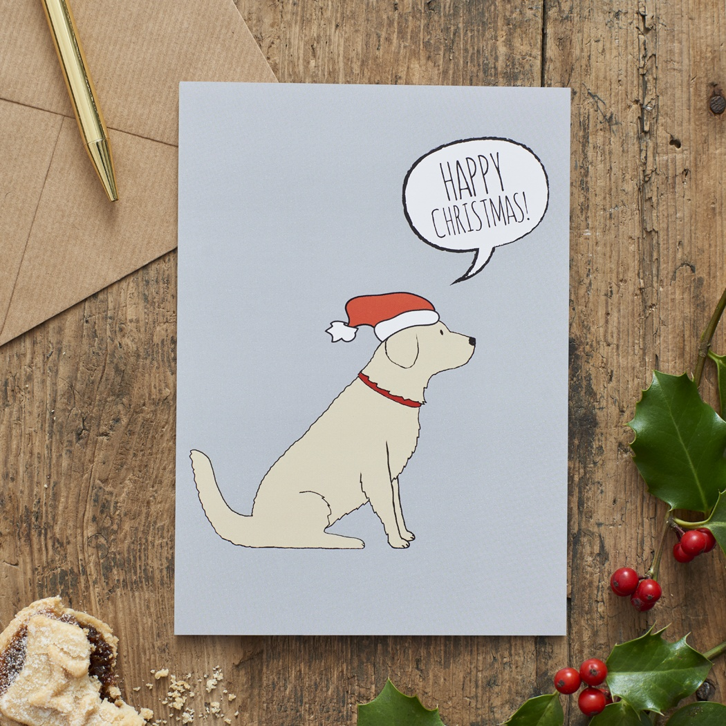 Golden Retriever Christmas Card , Mischievous Mutts > Greeting Cards , Golden Retriever