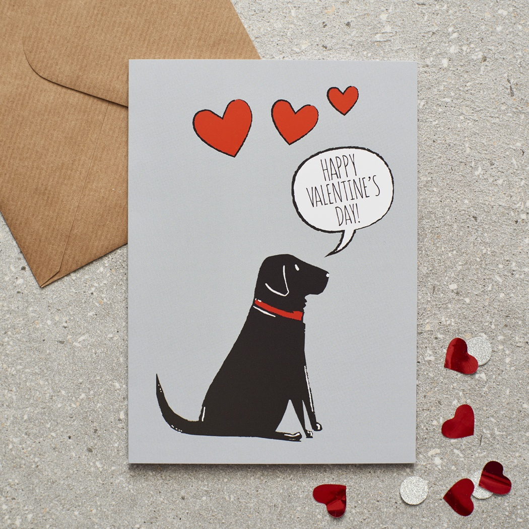 Black Labrador Valentine's Day Card , Mischievous Mutts > Greeting Cards , Black Labrador