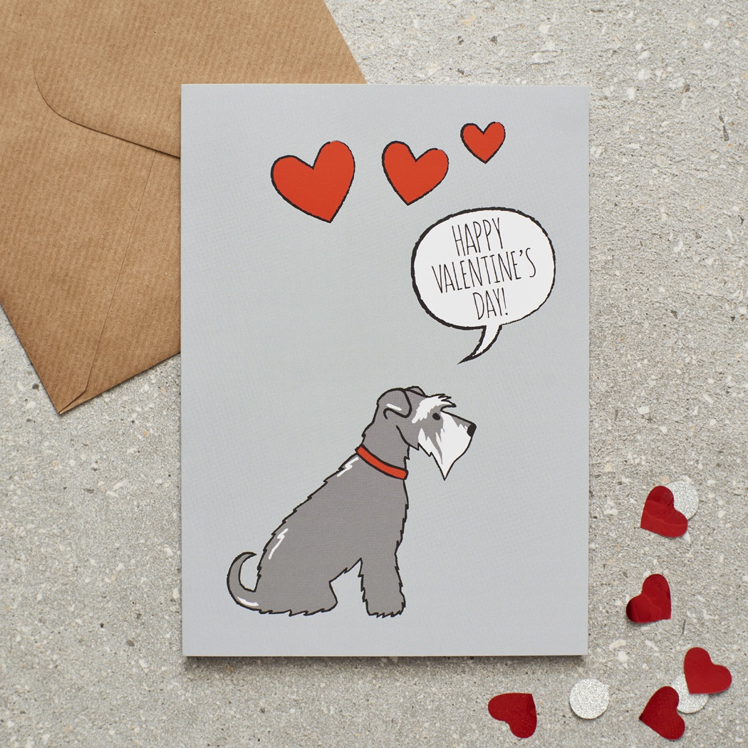 Schnauzer Valentine's Day Card , Mischievous Mutts > Greeting Cards , Schnauzer