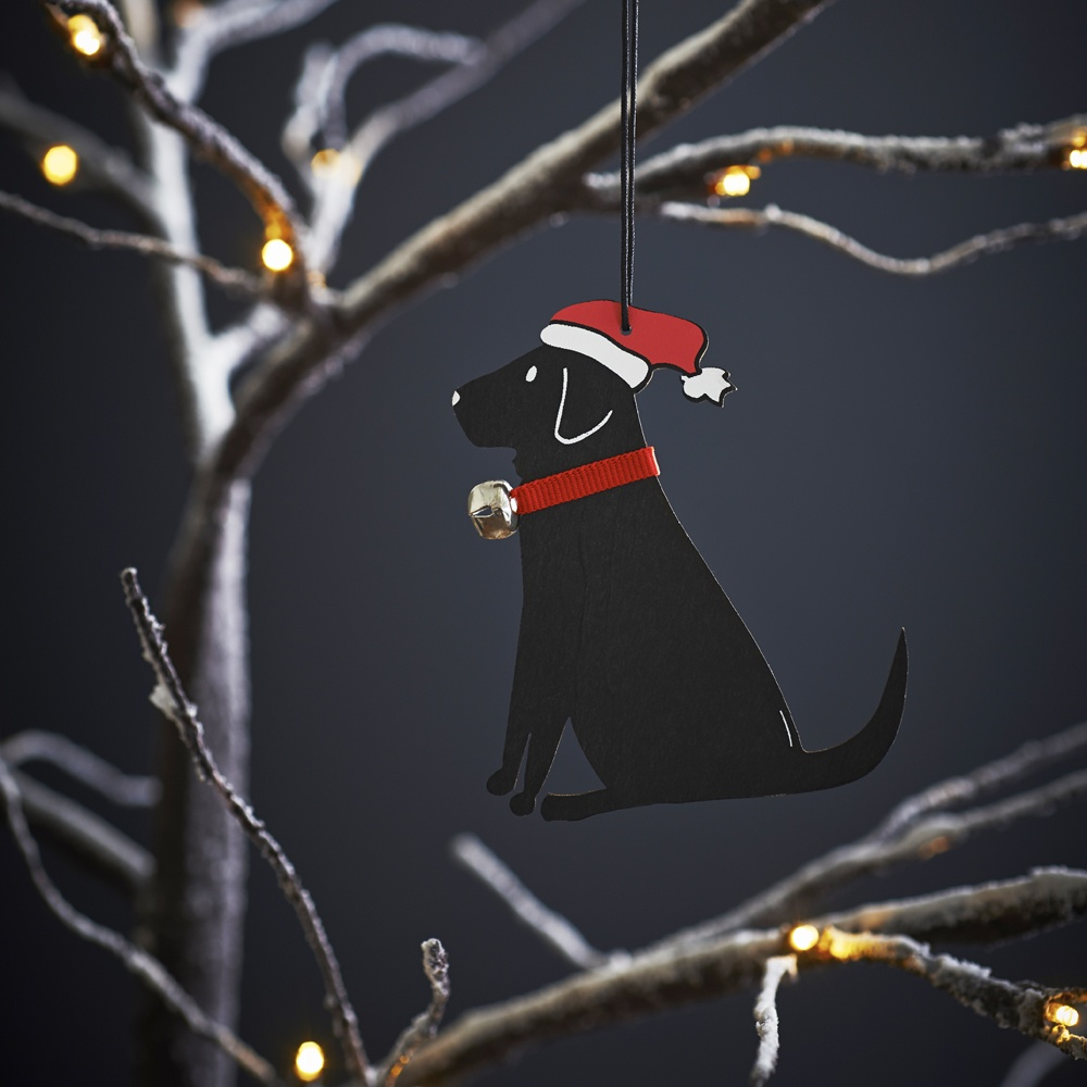 Black Labrador Dog Christmas Tree Decoration , Mischievous Mutts > Christmas Decorations , Black Labrador