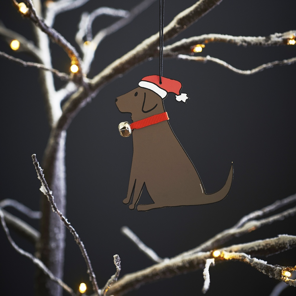 Chocolate Labrador Christmas Tree Decoration , Mischievous Mutts > Christmas Decorations , Chocolate Labrador