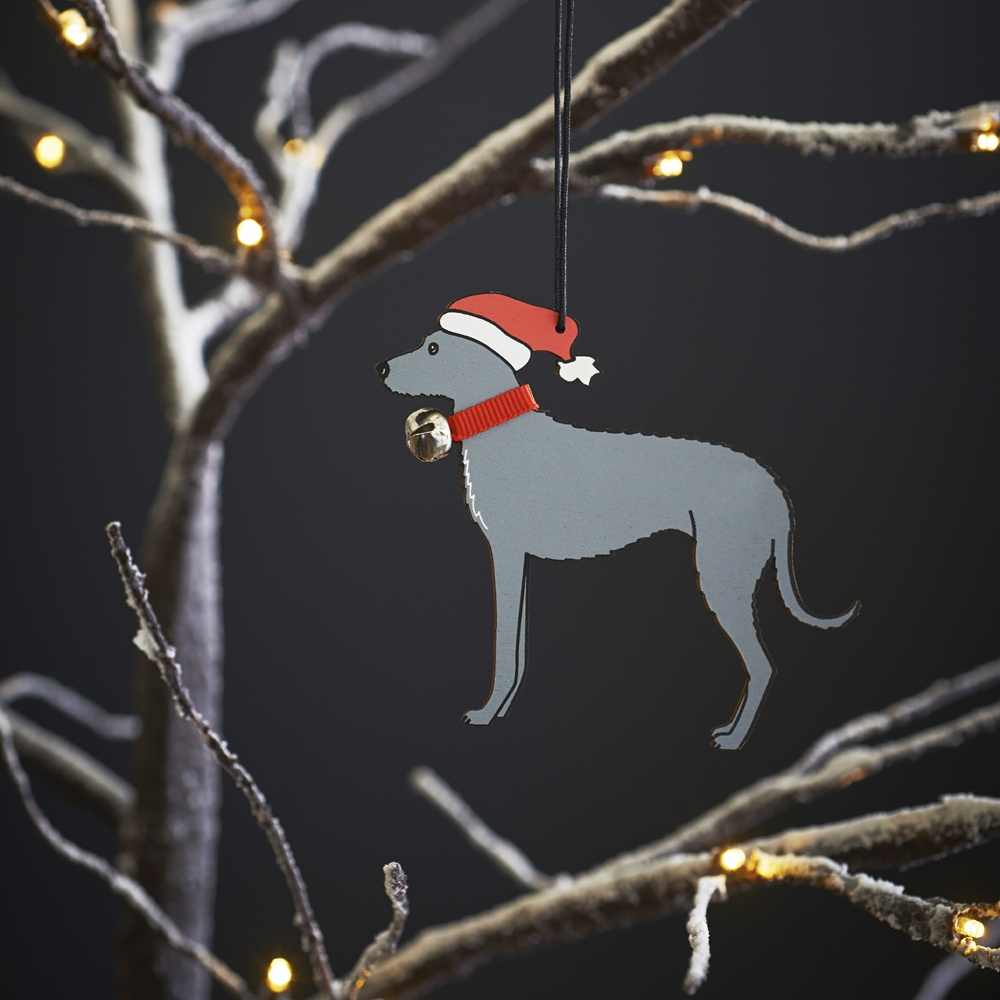Lurcher Dog Christmas Tree Decoration , Mischievous Mutts > Christmas Decorations , Lurcher
