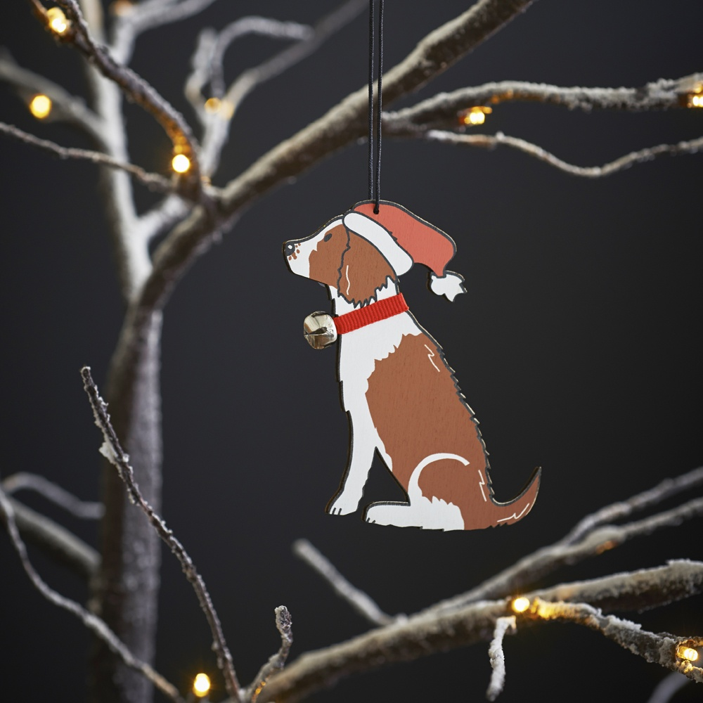 Springer Spaniel (Liver & White) Christmas Tree Decoration , Mischievous Mutts > Christmas Decorations , Springer Spaniel
