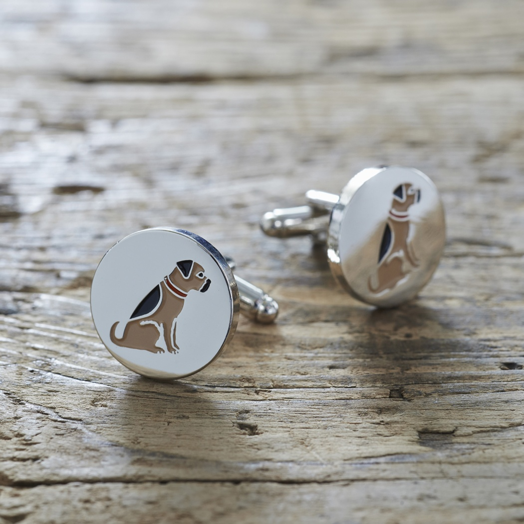 Border Terrier Cufflinks , Mischievous Mutts > Cufflinks , Border Terrier