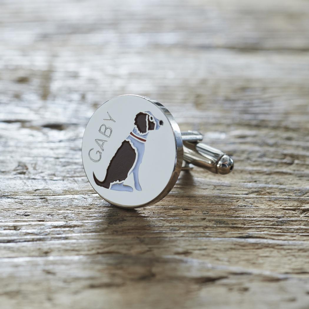 Springer Spaniel Liver Amp White Cufflinks And Tag Gift