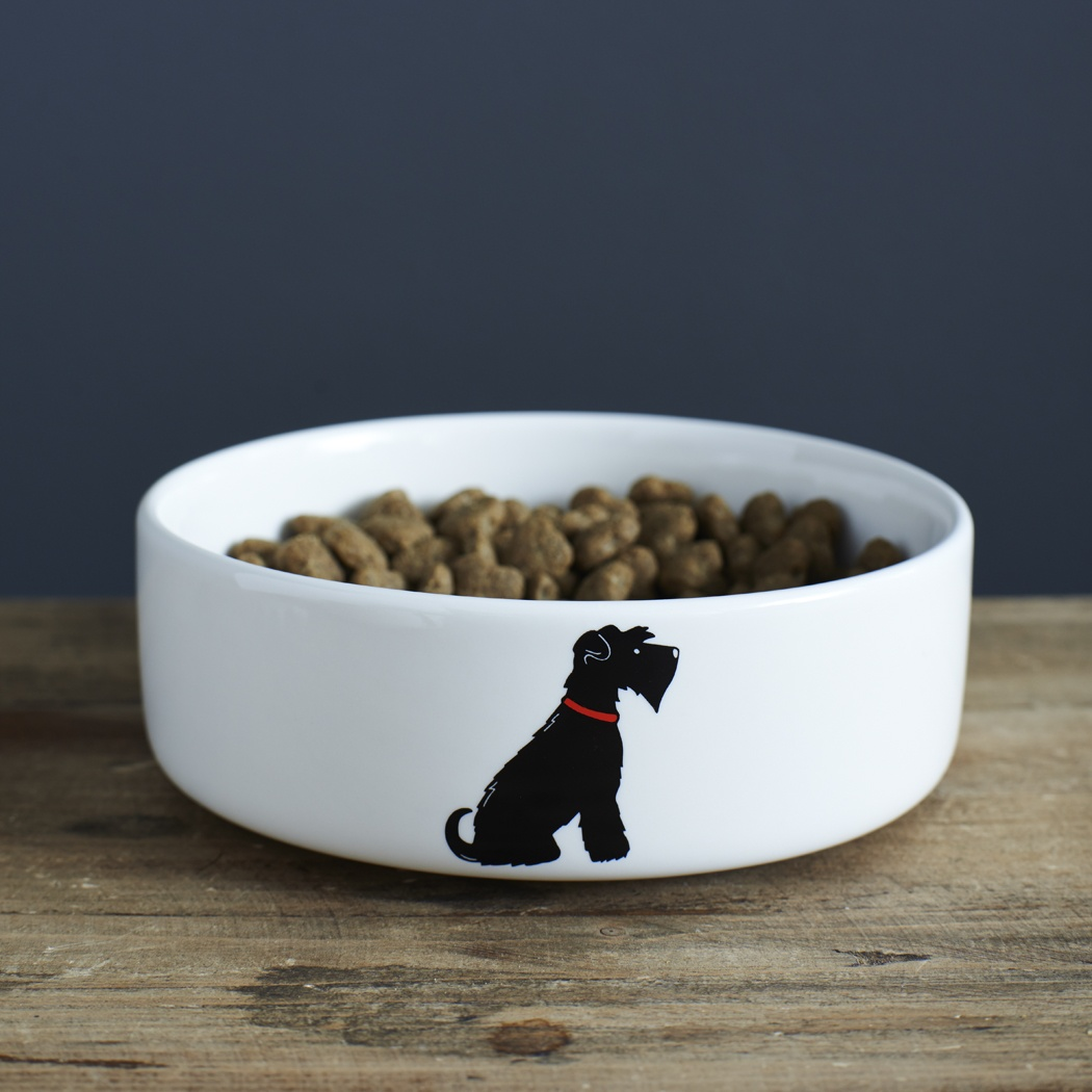 Black Schnauzer Dog Bowl 163 20 95 Mischievous Mutts Dog