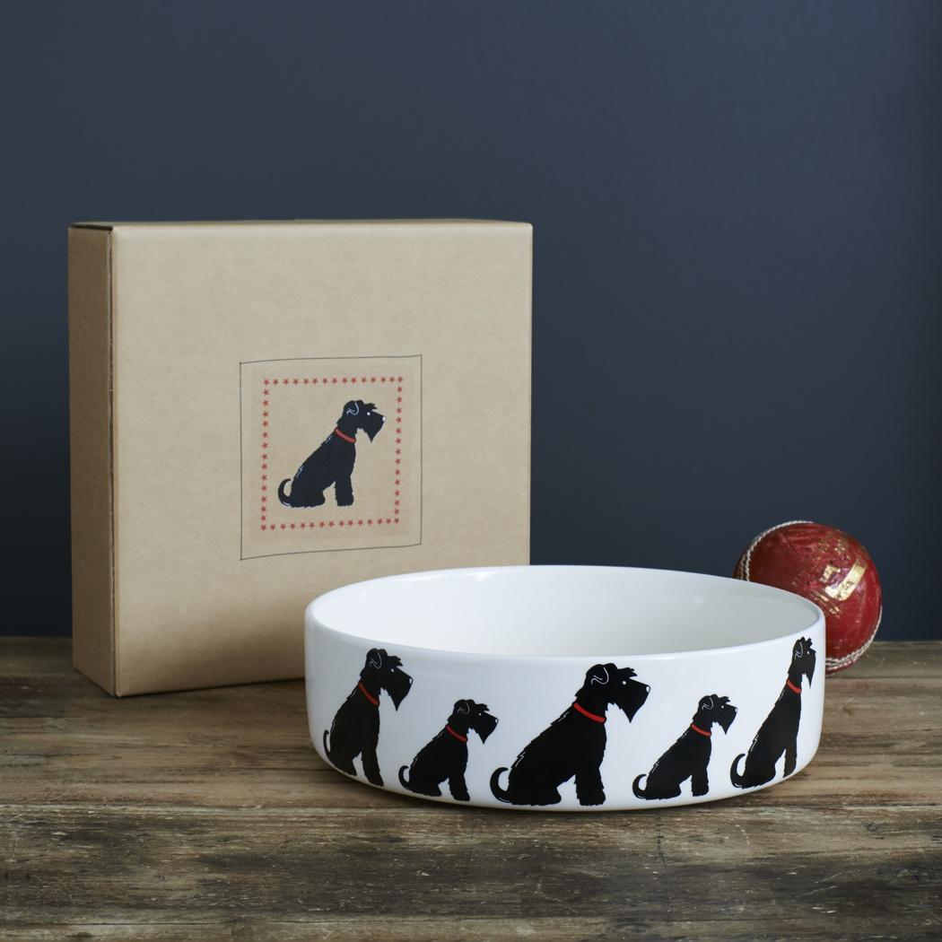 Black Schnauzer Dog Bowl 163 20 95 Mischievous Mutts Dog