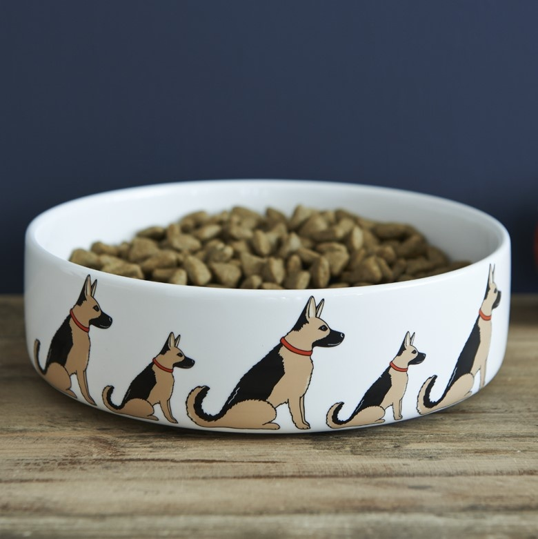 German Shepherd Dog Bowl , Mischievous Mutts > Dog bowls , German Shepherd