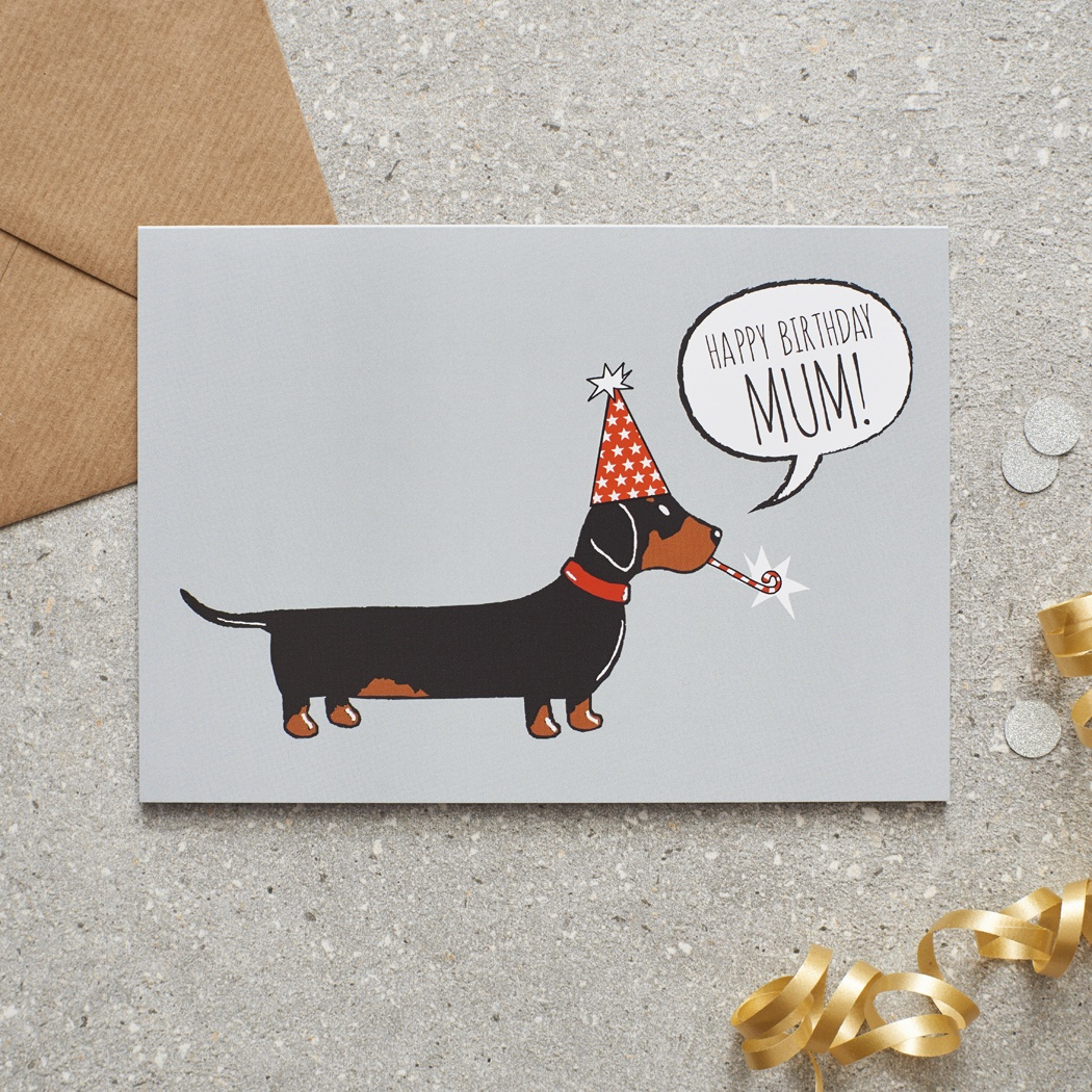 Dachshund Mum Birthday Card , Mischievous Mutts > Greeting Cards , Dachshund