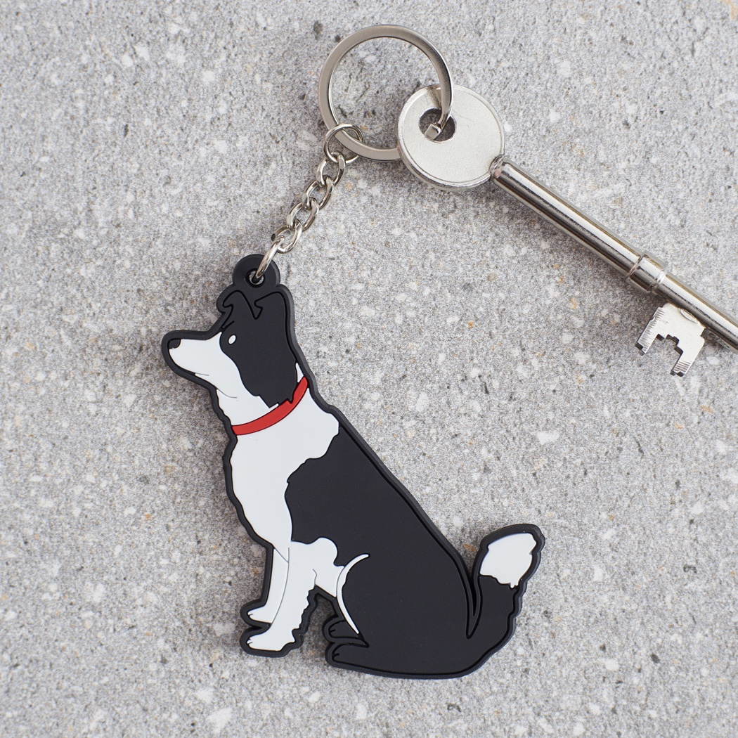 Border Collie Key Ring , Mischievous Mutts > Keyrings , Border Collie