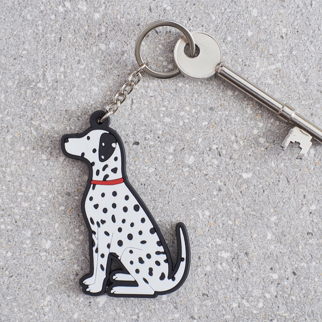 Dalmatian Key Ring , Mischievous Mutts > Keyrings , Dalmatian