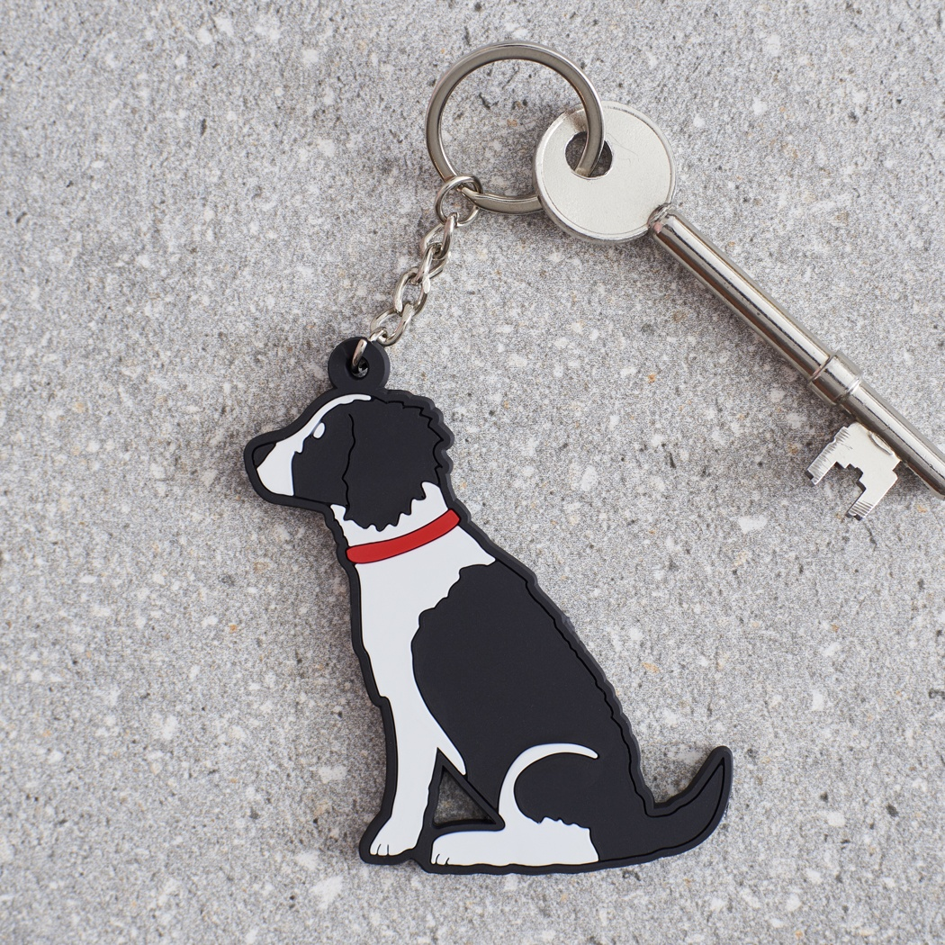Springer Spaniel (Black & White) Key Ring , Mischievous Mutts > Keyrings , Springer Spaniel