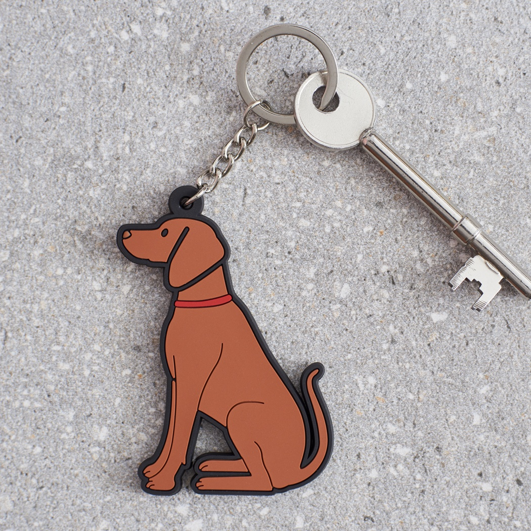Vizsla Key Ring , Mischievous Mutts > Keyrings , Vizsla