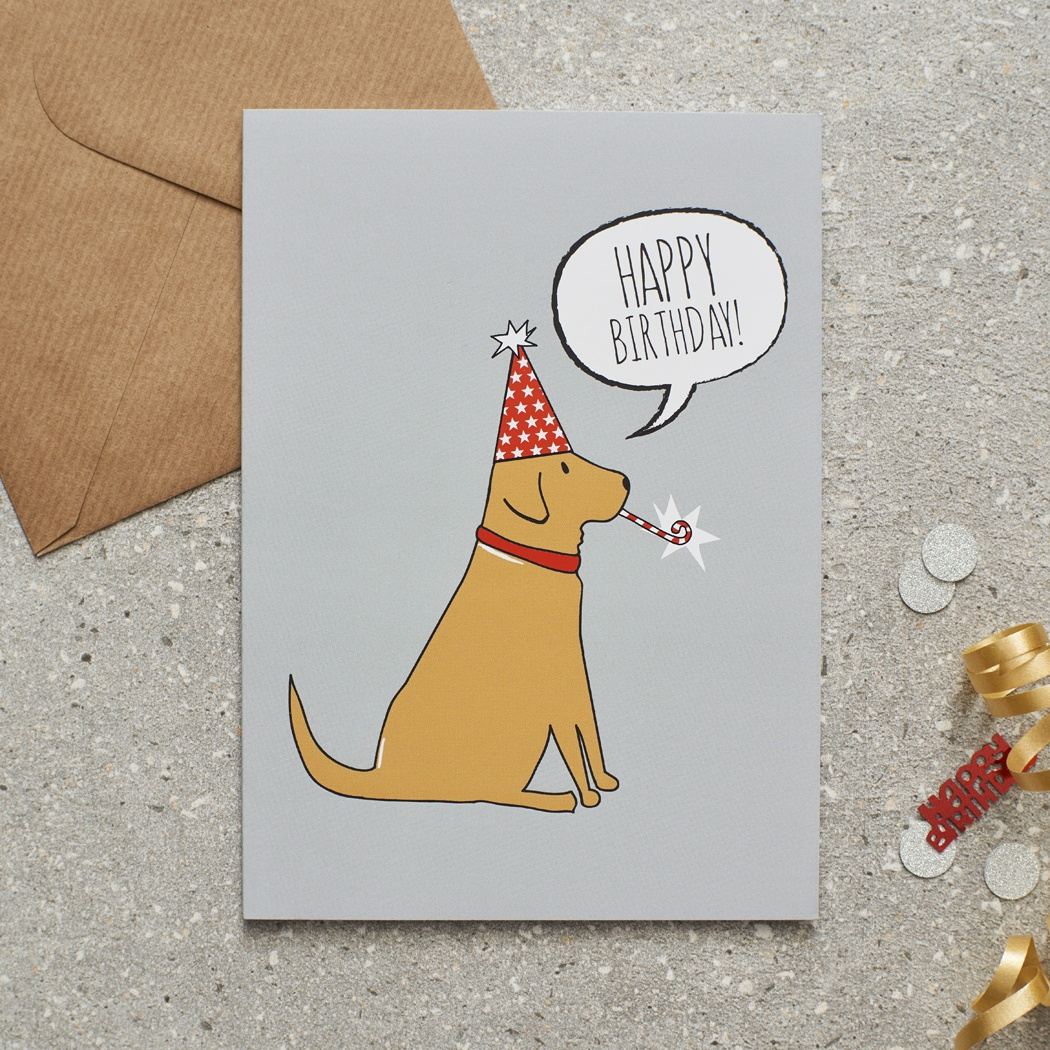 Fox Red Labrador Birthday Card , Mischievous Mutts > Greeting Cards , Fox Red Labrador