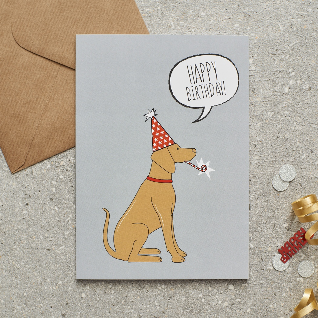 Vizsla Birthday Card , Mischievous Mutts > Greeting Cards , Vizsla
