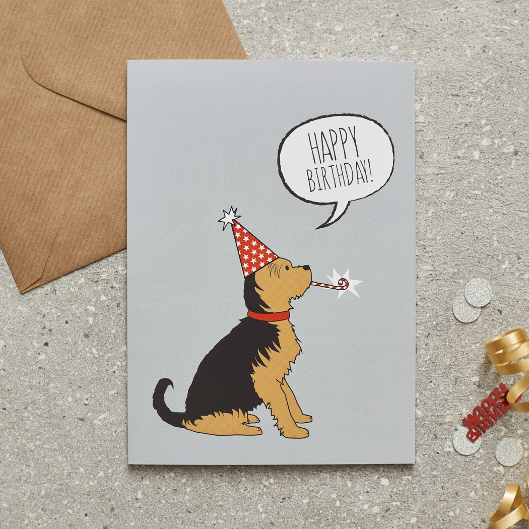 Yorkshire Terrier Birthday Card , Mischievous Mutts > Greeting Cards , Yorkshire Terrier