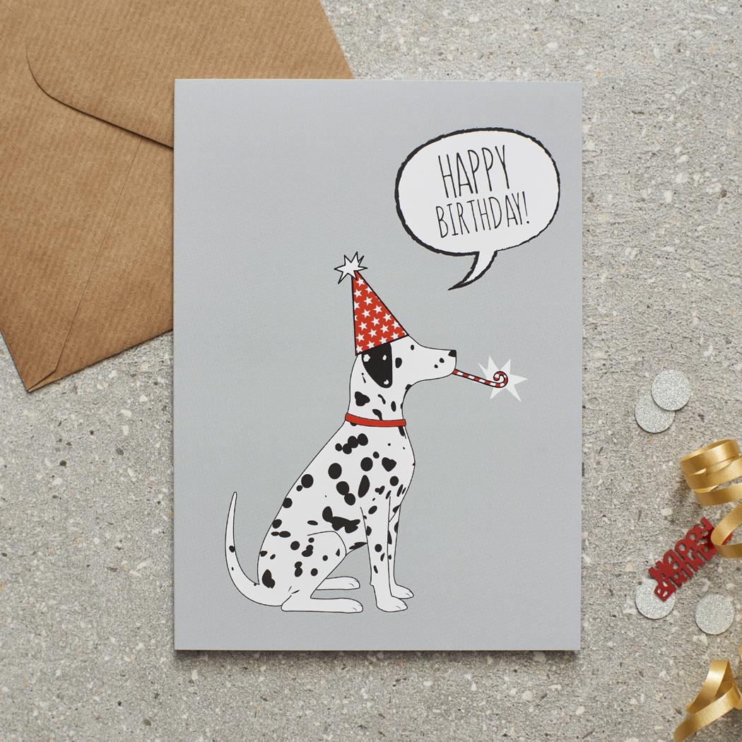 Dalmatian Birthday Card , Mischievous Mutts > Greeting Cards , Dalmatian