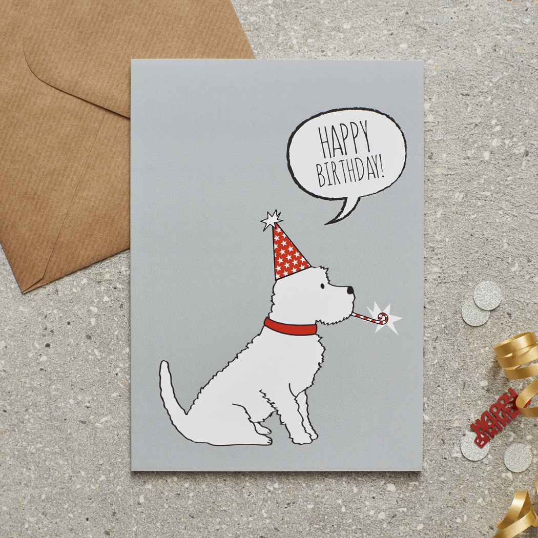 Westie Birthday Card , Mischievous Mutts > Greeting Cards , Westie