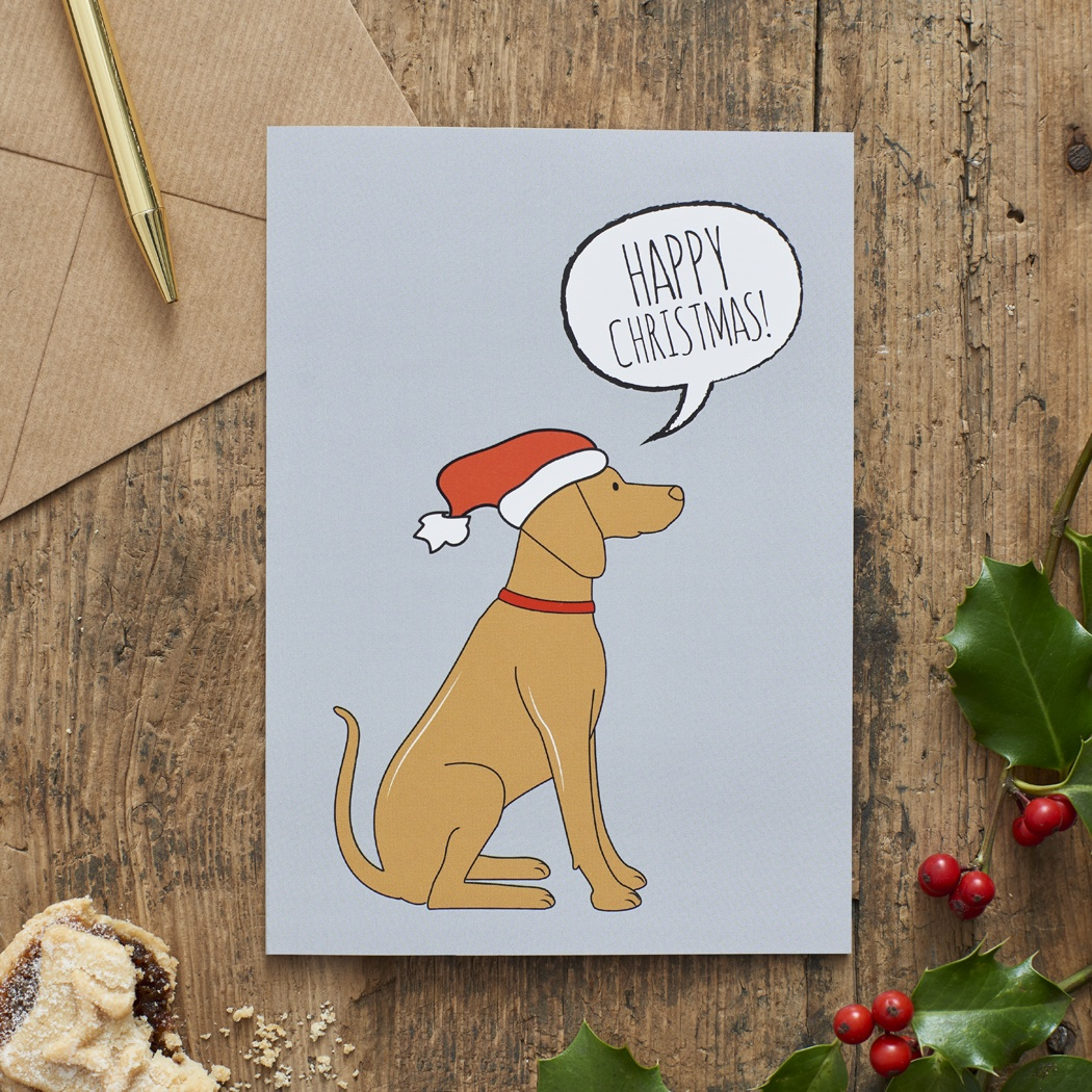 Vizsla Christmas Card , Mischievous Mutts > Greeting Cards , Vizsla