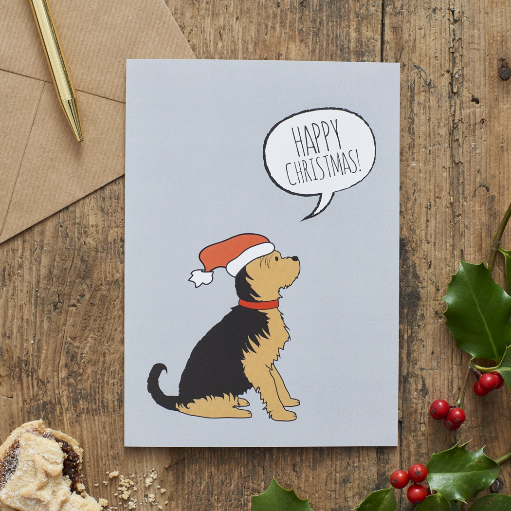 Yorkshire Terrier Christmas Card , Mischievous Mutts > Greeting Cards , Yorkshire Terrier