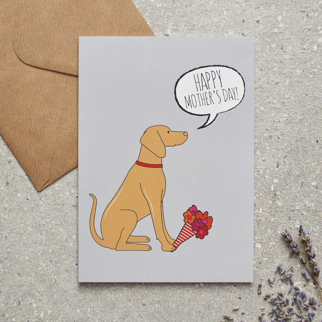 Vizsla Mother's Day Card , Mischievous Mutts > Greeting Cards , Vizsla